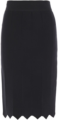 Giorgio Armani Embroidered Knitted Pencil Skirt