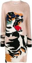 Kenzo Tiger intarsia knit jumper dress