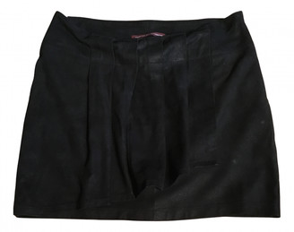 Comptoir des Cotonniers Black Leather Skirts