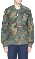 Alpha Industries Camouflage print reversible MA-1 bomber jacket