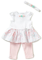 Little Me Baby Girls 3-9 Months Floral Dress & Solid Leggings Set