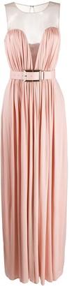 Elisabetta Franchi belted ruched dress