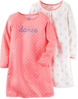 Carter's Girls' or Little Girls' 2-Pk. Dance Ballet Shoe Nightgown Set