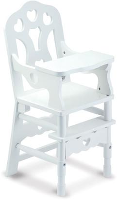 Melissa & Doug Wooden Doll High Chair