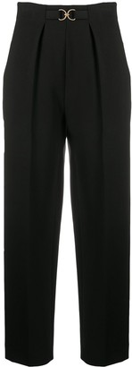 Sandro High Waisted Tailored Trousers