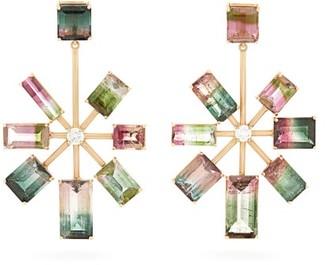 Irene Neuwirth Tourmaline, Diamond & 18kt Gold Earrings - Multi