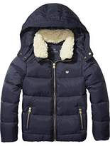 Scotch & Soda R'Belle Girl's Down Jacket With Detachable Collar Jacket