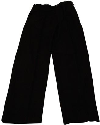 Yohji Yamamoto Black Wool Trousers