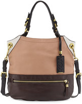 Oryany Sydney Colorblock Tote Bag, Nude Multi
