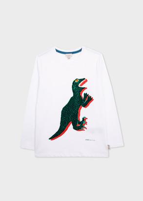 Paul Smith 2-6 Years White 'Dino' Long-Sleeve T-Shirt