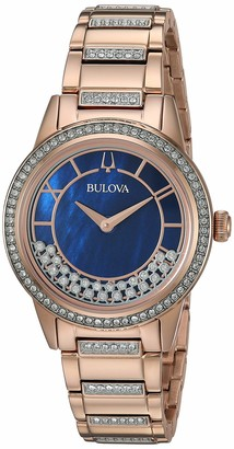Bulova Women's Analogue Quartz Watch with Stainless Steel Strap 98L247