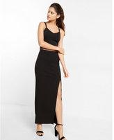 Express black column maxi skirt
