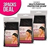 Goody Mosaic Multi-Purpose Protective Scarf (Pack of 3) (Black)
