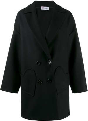RED Valentino Oversized Double Breasted Coat