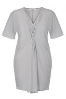 Quiz Curve Grey Knot Detail Tunic Dress