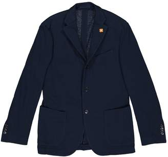 Lardini Blue Cotton Jackets