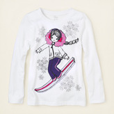 Children's Place Snowboard girl graphic tee