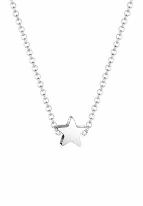 Elli Girls' 925 Sterling Silver Pendant Necklace 0101341818_36 - 36cm length