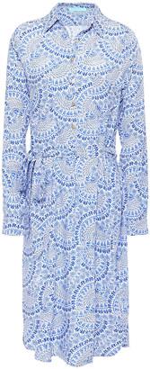 Melissa Odabash Lois Printed Broadcloth Shirt Dress