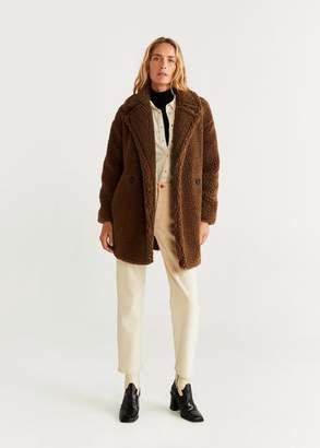 MANGO Double breasted faux coat off white - XXS - Women