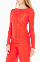 BCBGMAXAZRIA Wylie Long-Sleeve Lace Top