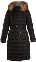 Burberry Dalmerton fur-trimmed belted quilted-down coat