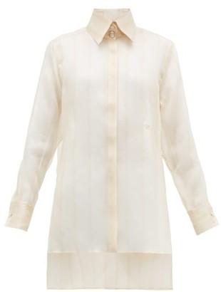 Fendi Sheer Silk-organza Shirt - Beige