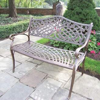 Astoria Grand Mcgrady Settee Bench Astoria Grand Color: Antique Bronze