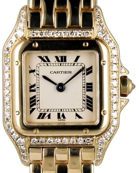 Cartier Panther 128000 18K Yellow Gold Quartz 22mm Womens Watch