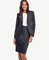 Ann Taylor Petite Pinstripe Tropical Wool Two Button Jacket