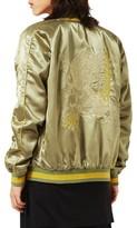 Topman Men's Embroidered Python Souvenir Jacket