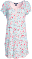 Rene Rofe Blue Floral Twin Love Nightgown