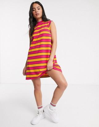 Tommy Jeans stripe high neck dress