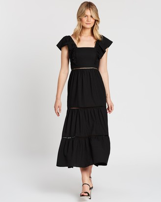 Atmos & Here Clementine Ruffle Maxi Dress