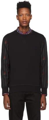 Alexander McQueen Black Wool Sleeves Sweatshirt