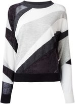 Diesel sheer detail jumper - women - Cotton/Nylon/Rayon/Virgin Wool - S