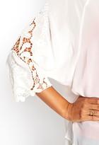 Forever 21 Contemporary Sheer Embroidered Kimono