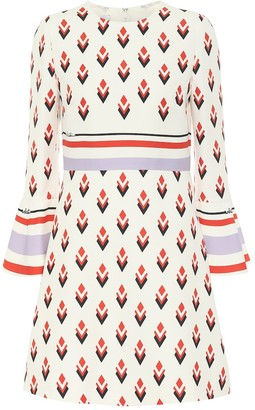 Valentino Printed wool and silk cady minidress