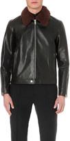Alexander McQueen shearling collar leather jacket