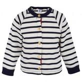 Petit Bateau Navy and White Stripe Cardigan
