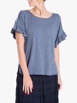 Max Studio Short Sleeve Frill Jersey Top