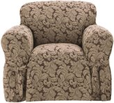 Sure Fit Scroll Box Cushion 1-Piece Slipcover