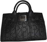 Calvin Klein Purse Handbag Signature Logo Tote Black