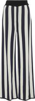 Courreges Wide Striped Crepe Pants