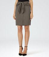 Reiss Dakota Bow-Detail Skirt