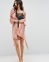 Asos Moss Satin Night Robe