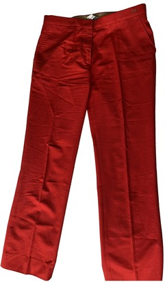 Carolina Herrera Red Cotton Trousers for Women