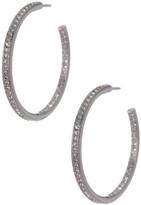 Nadri Medium In & Out Hoop Earrings