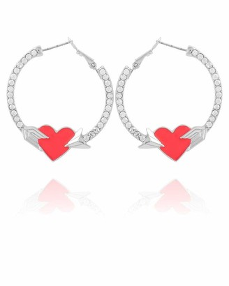GUESS Hoop Earring With Heart
