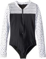 Seafolly Pineapple Daze Long Sleeve Surf Tank One-Piece Girl's Swimsuits One Piece